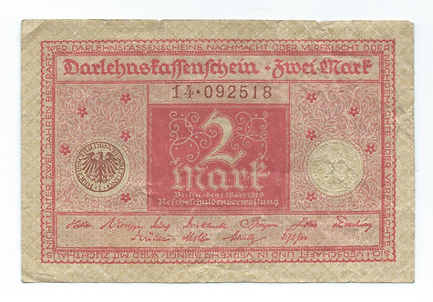 Germany - 2 Mark - 1920