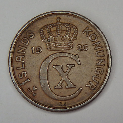 Iceland - 2 Aurar - 1926