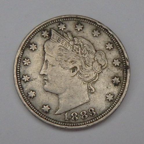 1883 No Cents V Nickel