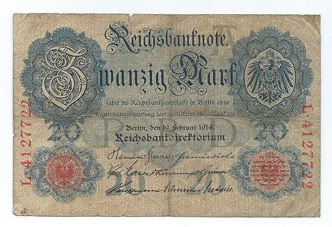 Germany - 20 Mark - 1914