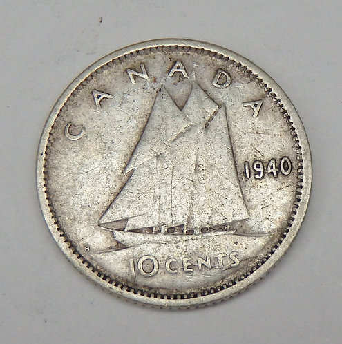 Canada - 10 Cents - 1940