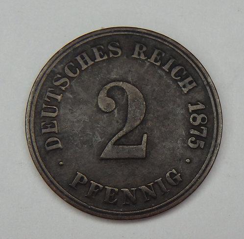 Germany - 2 Pfennig - 1875-J