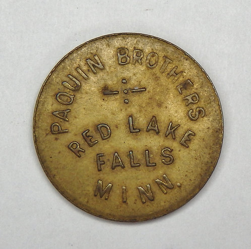 Minnesota, Red Lake Falls - Paquin Brothers Token