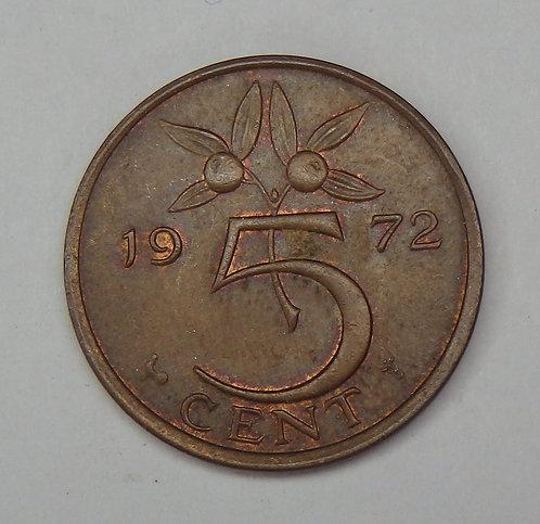 Netherlands - 5 Cents - 1972