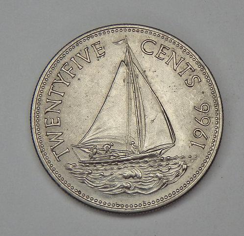 Bahamas - 25 Cents - 1966