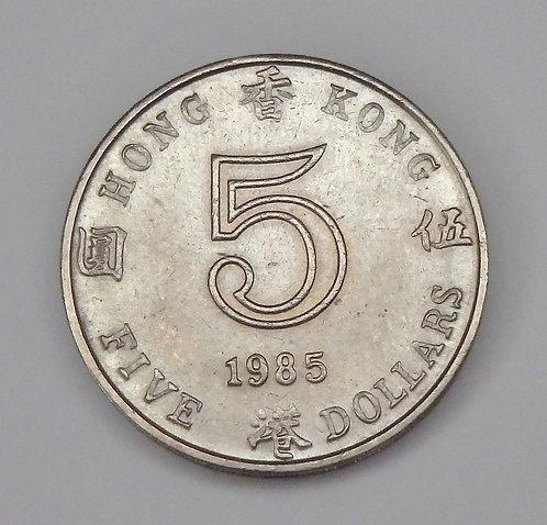 Hong Kong - 5 Dollars - 1985
