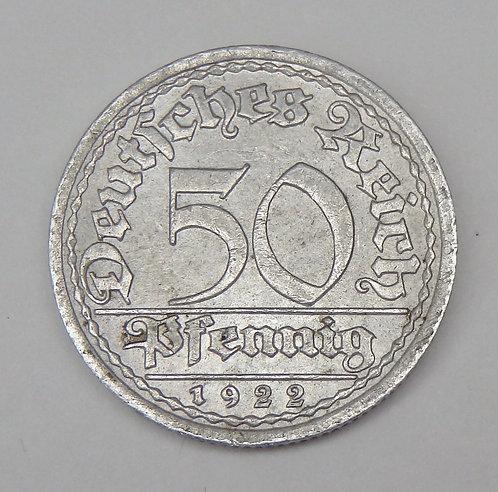 Germany - 50 Pfennig - 1922-A