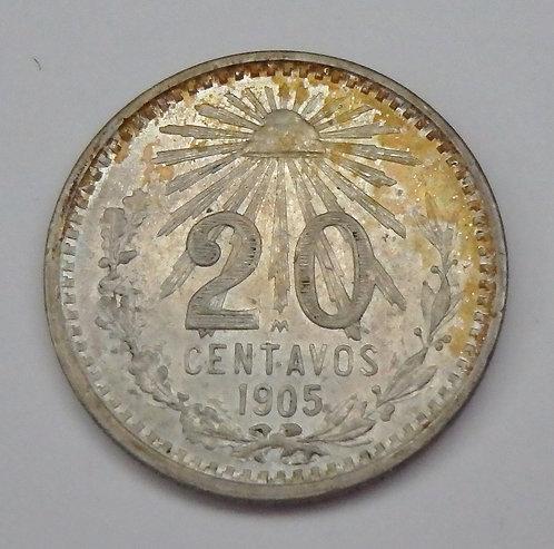 Mexico - 20 Centavos - 1905