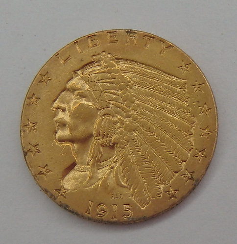 1915 $2-1/2 Indian Gold