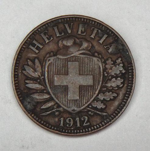 Switzerland - 2 Rappen - 1912-B