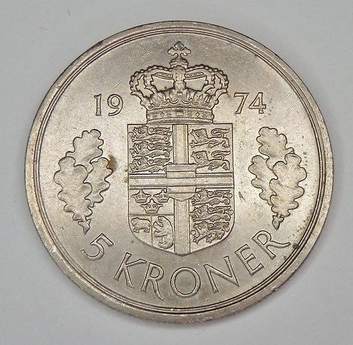 Denmark - 5 Kroner - 1974