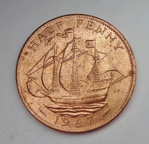Great Britain - Half Penny - 1967