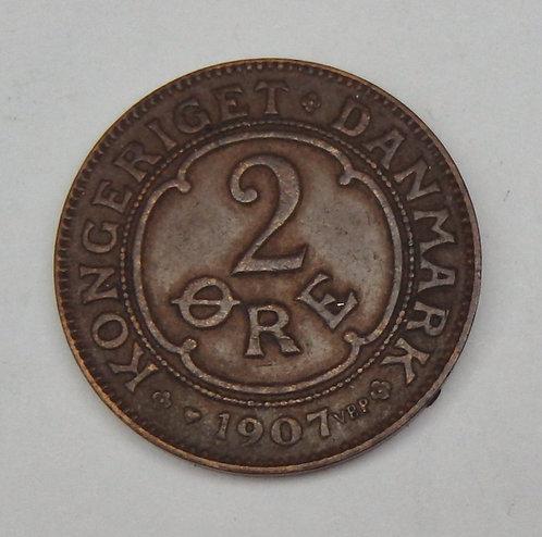 Denmark - 2 Ore - 1907