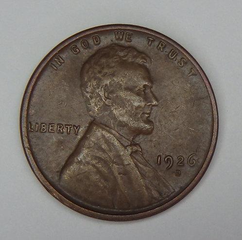 1926-D Wheat Cent