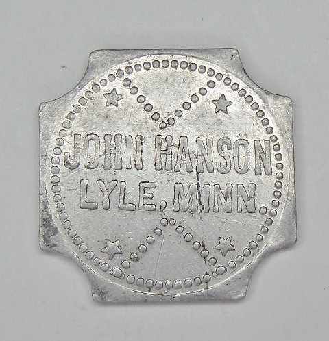 Minnesota, Lyle - John Hanson Token