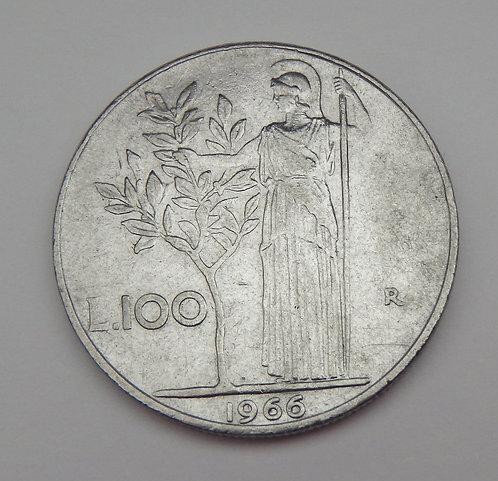 Italy - 100 Lire - 1966R