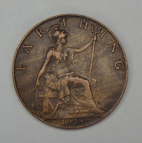 Great Britain - Farthing - 1918