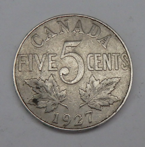 Canada - 5 Cents - 1927