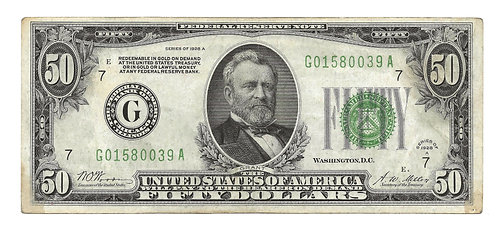 1928-A $50 Federal Reserve Note