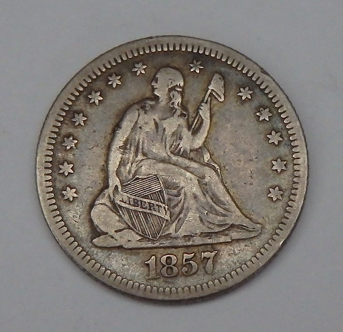 1857-O Seated Liberty Quarter