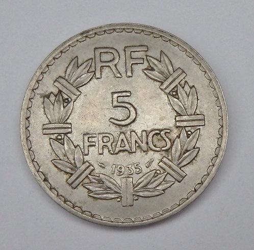France - 5 Francs - 1935