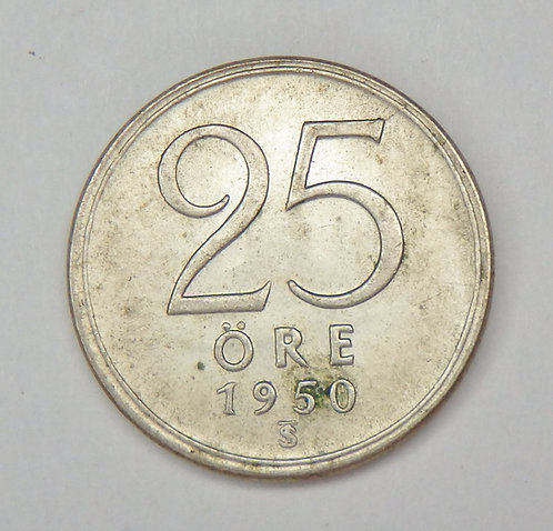 Sweden - 25 Ore - 1950