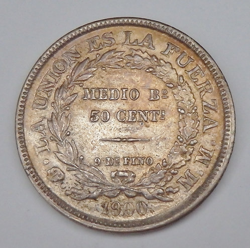 Bolivia - 50 Centavos - 1900MM