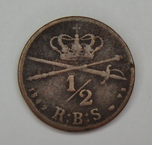 Denmark - 1/2 Rigsbankskilling - 1842