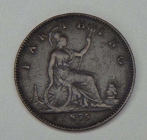 Great Britain - Farthing - 1875-H
