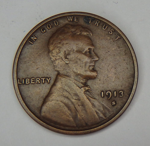 1913-S Wheat Cent