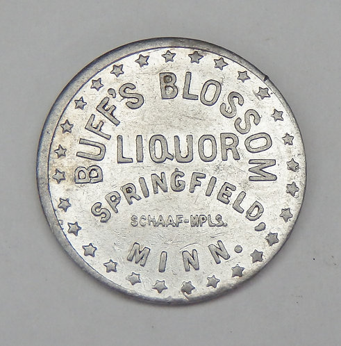 Minnesota, Springfield - Buff's Blossom Liquor Token