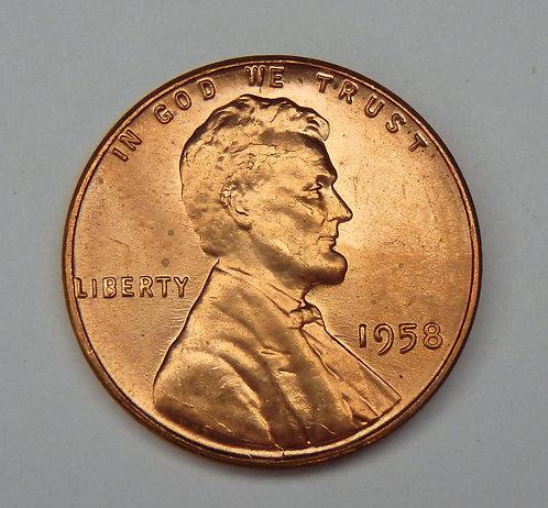 1958 Wheat Cent