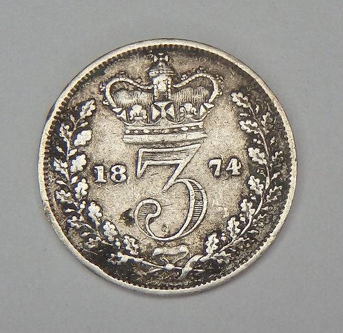 Great Britain - 3 Pence - 1874