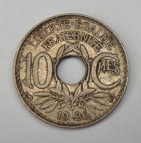 France - 10 Centimes - 1936
