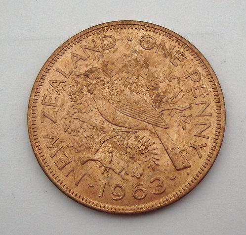 New Zealand - Penny - 1963