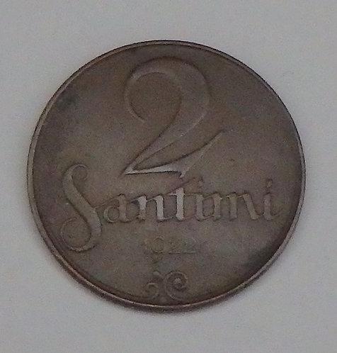 Latvia - 2 Santimi - 1922