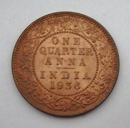 India - 1/4 Anna - 1936