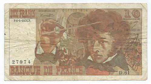 France - 10 Francs - 1974