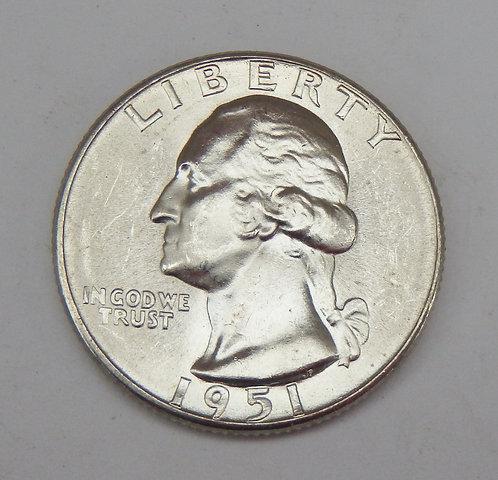 1951-D Washington Quarter