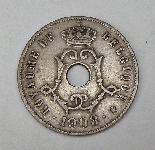 Belgium - 25 Centimes - 1908