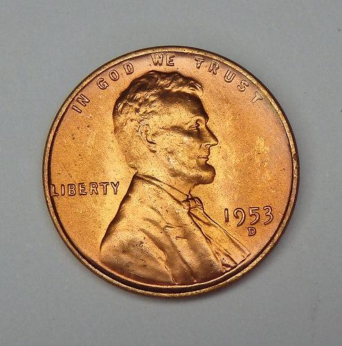1953-D Wheat Cent