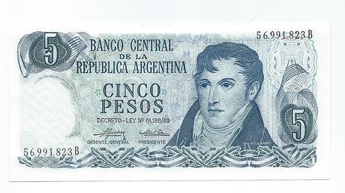 Argentina - 5 Pesos - 1974