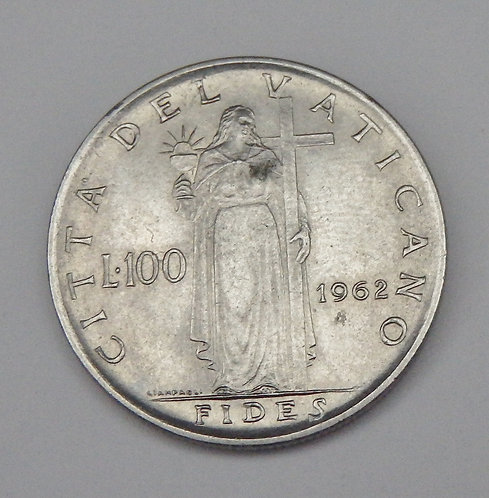 Vatican City - 100 Lire - 1962