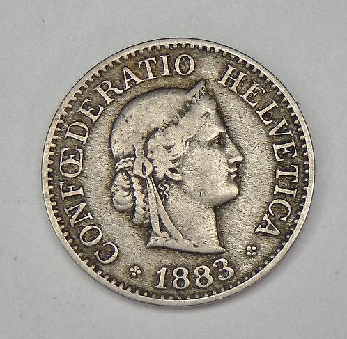 Switzerland - 10 Rappen - 1883-B