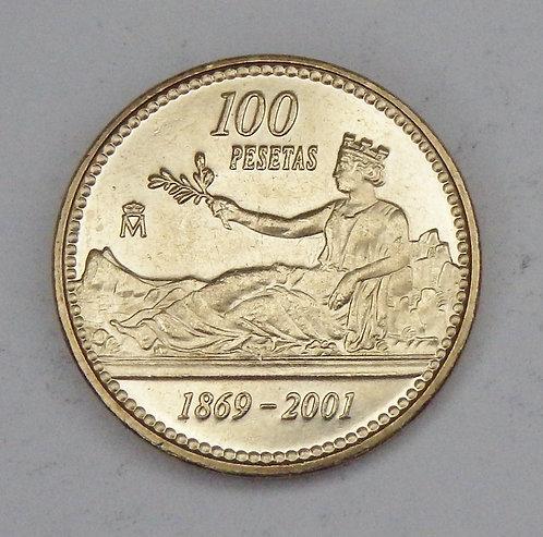 Spain - 100 Pesetas - 2001
