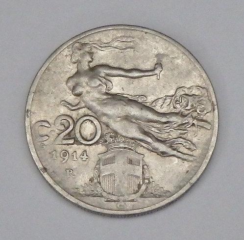 Italy - 20 Centesimi - 1914