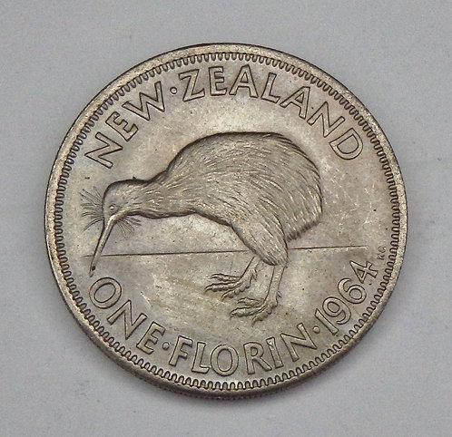 New Zealand - Florin - 1964