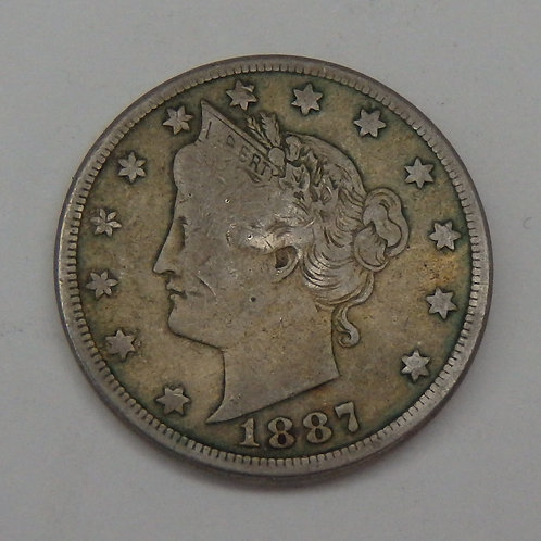 1887 Liberty V Nickel