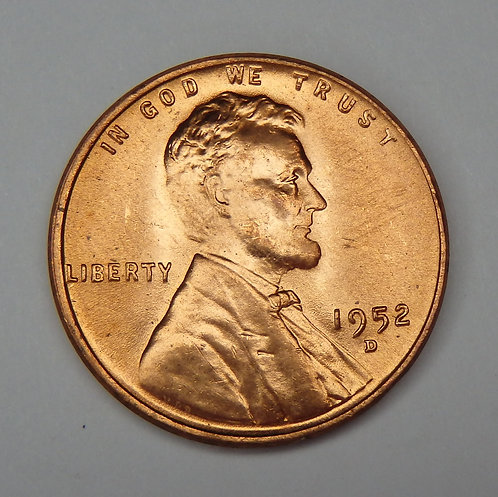 1952-D Wheat Cent