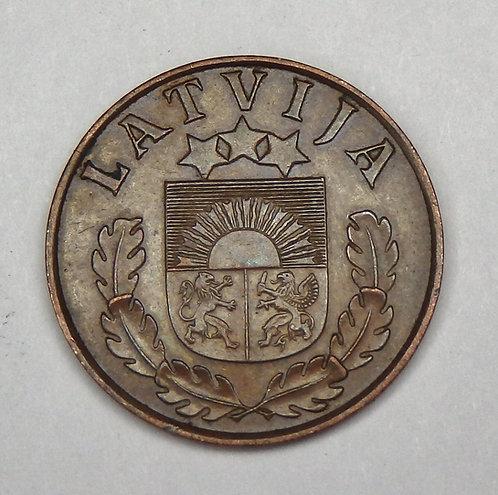 Latvia - 2 Santimi - 1939